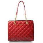 Elegantní prošívaná červená bordó kabelka Caliope