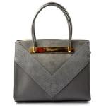 Elegantní šedá kabelka do ruky Danesi