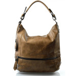 Elegantní velká béžová volnočasová kabelka Elegance