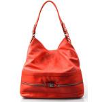 Elegantní velká červená volnočasová kabelka Italy