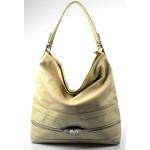 Elegantní velká krémová volnočasová kabelka Italy