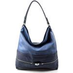 Elegantní velká modrá volnočasová kabelka Italy