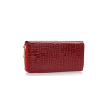 Fashion Only Croco Wallet – vínová