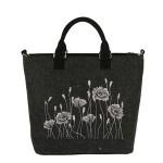 Filcová EKO kabelka Poppys – tmavě šedá