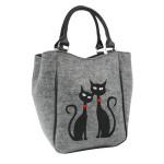 Filcová kabelka Black Cats