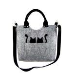 Filcová kabelka Cats on Grey