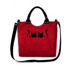 Filcová kabelka Cats on Red