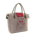 Filcová kabelka Felt Owl – vínová