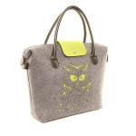 Filcová kabelka Felt Owl – zelená