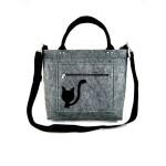 Filcová kabelka Kitty Black