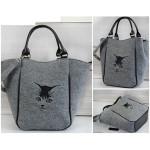 Filcová kabelka Tomcat – šedá