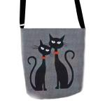 Filcová taška přes rameno Cats In Love