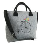 Filcová taška přes rameno Retro Bike