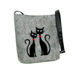 Filcové crossbody Modern Cats in Love