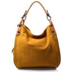 hnědá designová filcová kabelka Julia