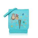 Kabelka Owl Love crossbody – modré