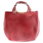 Kožená červená bordó kabelka do ruky 2v1 sandi