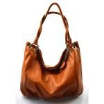 Kožená hnědá brown velká taška na rameno marleni