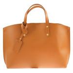 Kožená hnědá velká taška Tanie 2v1