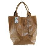 Kožená koňaková hnědá taška na rameno melani