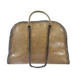 Kožená luxusní béžová kabelka do ruky isabele