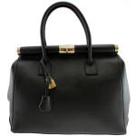 Kožená luxusní černá kabelka Aliste