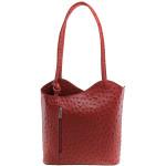 Kožená luxusní červená crossbody kabelka Royal