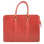 Kožená luxusní červená kabelka do ruky ester