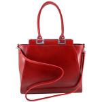 Kožená luxusní červená menší kabelka do ruky Miracle