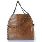 Kožená luxusní hnědá kabelka přes rameno brigite