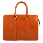 Kožená luxusní mahagonově hnědá kabelka do ruky ester