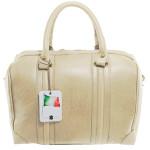 Kožená luxusní menší béžová kabelka Karine