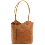 Kožená luxusní menší mahagonově hnědá crossbody kabelka Royal