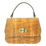 Kožená luxusní menší mahagonově hnědá kabelka Zoe