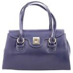 Kožená luxusní modrá kabelka Olgin