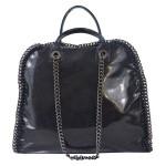 Kožená luxusní tmavě modrá kabelka do ruky isabele
