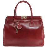 Kožená luxusní vínová kabelka Look
