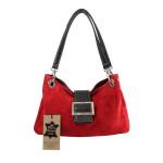 Kožená menší červená bordó taška na rameno lil