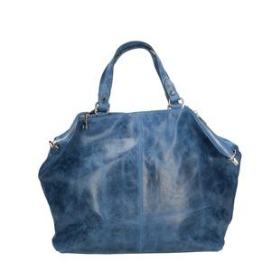 73bf8913cf97 Kožená modrá velká taška na rameno neli