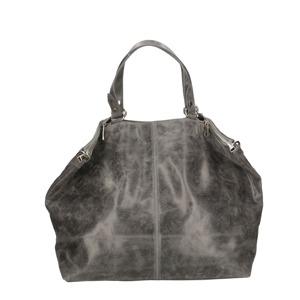Kožená šedá velká taška na rameno neli  d8b3d8a579f