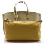 Kožená zvláštní béžová velká taška Tanie 2v1