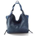 krásná modrá kabelka na rameno livia