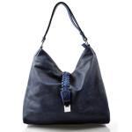 krásná modrá kabelka na rameno style