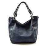 krásná tmavší modrá kabelka na rameno arine
