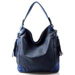 krásná tmavší modrá kabelka na rameno lips