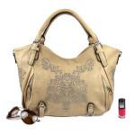 Krásná vzorovaná kabelka do ruky Beigi