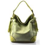 krásná zelená kabelka na rameno lips