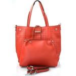 luxusní červená kabelka 2v1 nanci