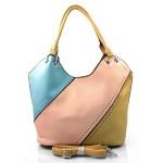 luxusní italská kabelka s hnědou italien two