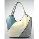 luxusní italská kabelka s šedou italien two